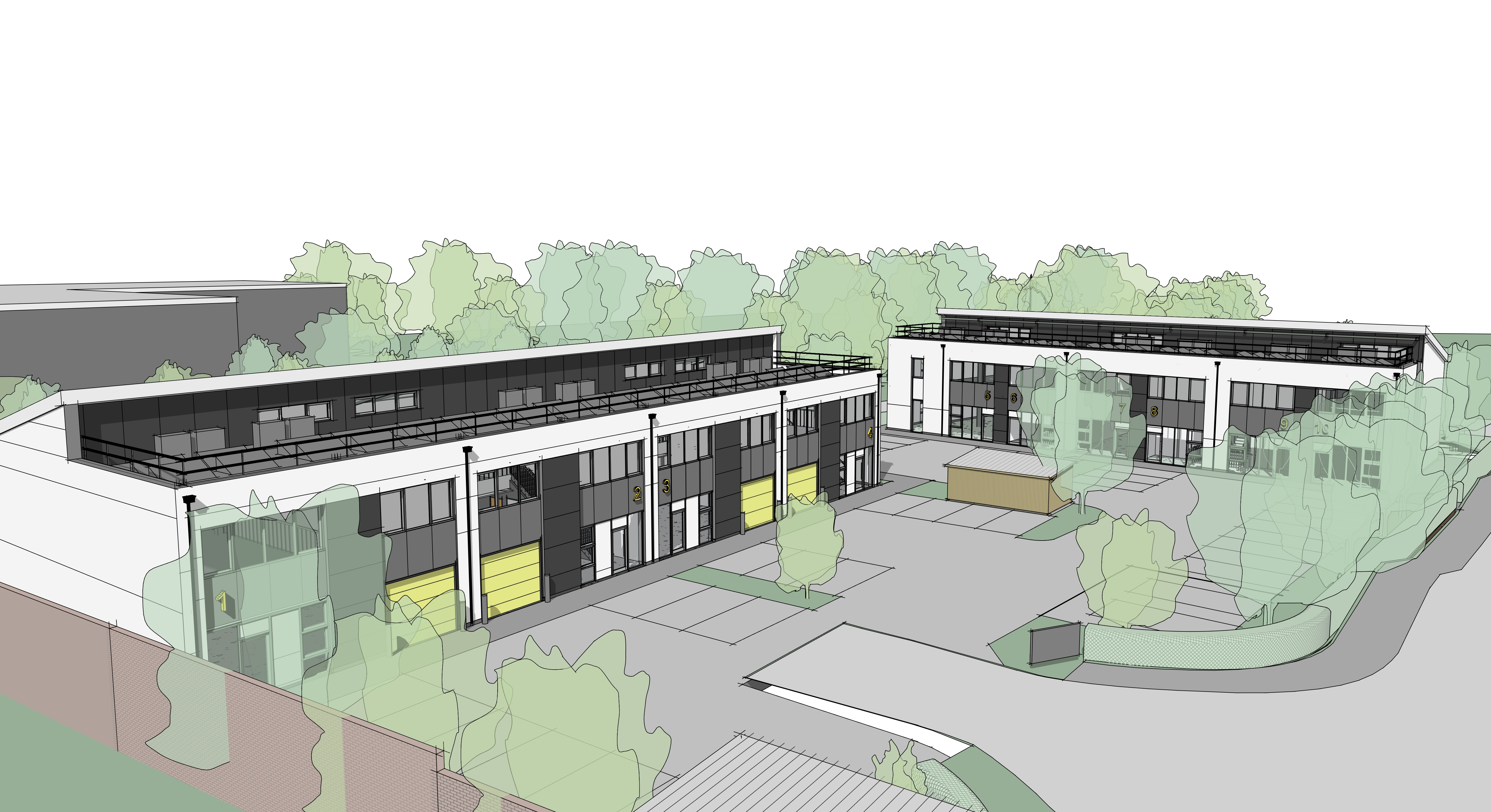 how the industrial units will look
