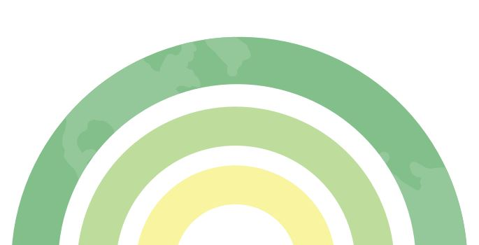 A graphic depicting a rainbow, taken from the logo of the Climate Emergency Action Plan