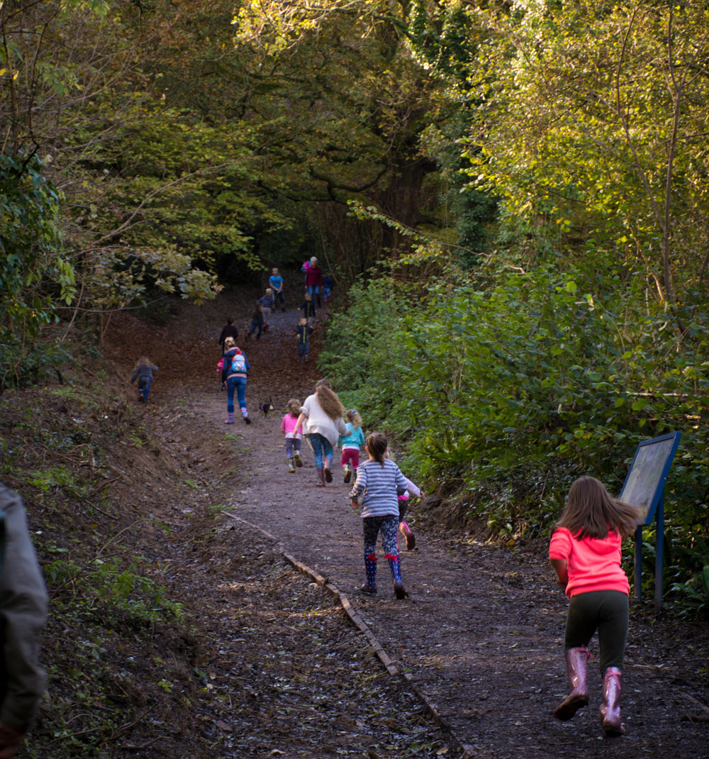 Photo of children having fun at Efford Local Nature Reserve
