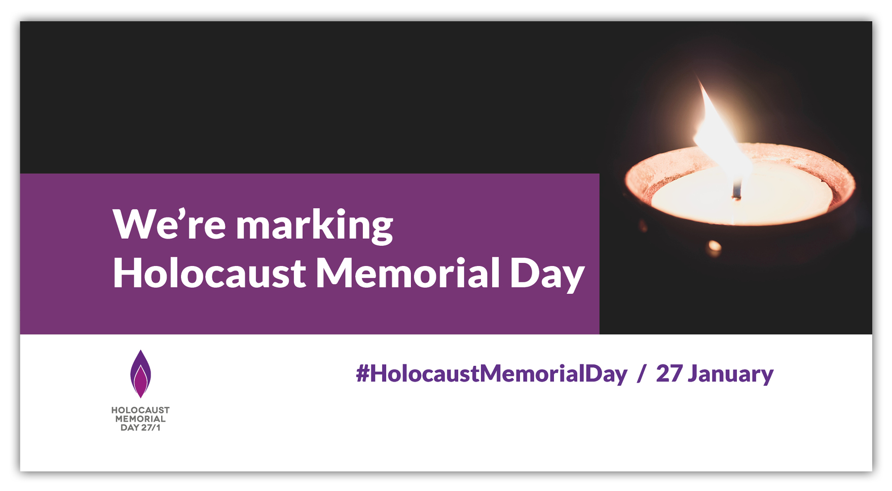 Graphic about Holocaust Memorial Day 2021