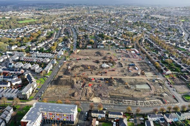 Drone footage of the cleared area of the last phase of the regeneration in November 2020 (Image by Red Air Drone)