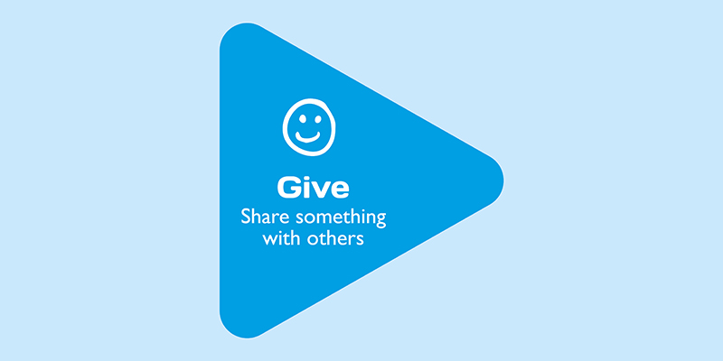 Give: Share something with others
