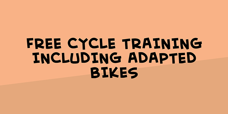 Free cycle training including adapted bikes
