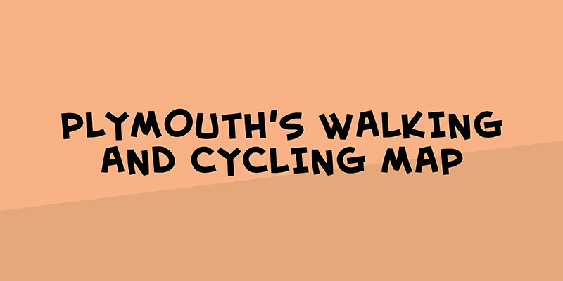 Walking and cycling map of Plymouth