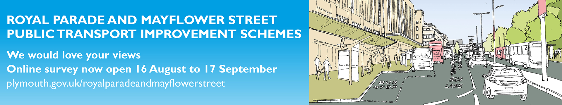 Royal Parade and Mayflower Street Public Consultation Banner