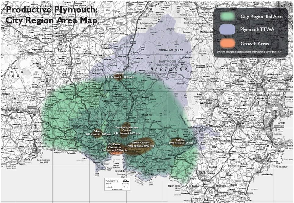 City Region Area Map