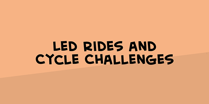 Led rides and cycle challenges