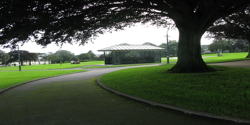 freedom fields park showing a central hut
