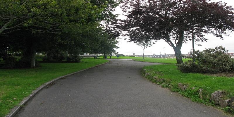 pathway through freedom fields park