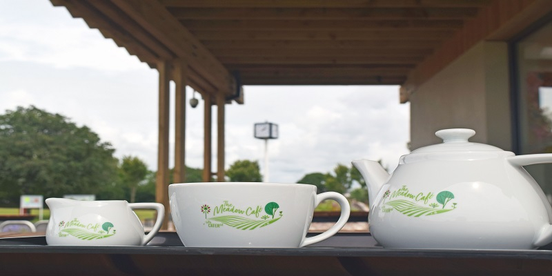 image of tea cup in meadow cafe