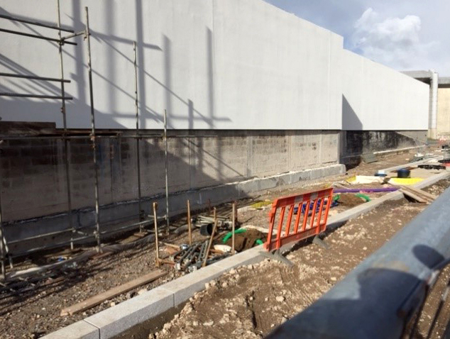 New 70m Pavilions Arena separation wall