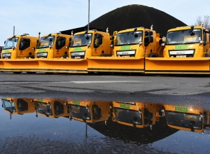 gritter vehicles lined up