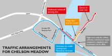Traffic arrangements for Chelson Meadow