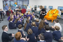 Children at the opening of the new St Budeaux library