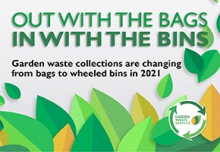 graphic saying out with the bags in with the bins