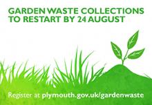 graphic showing garden waste
