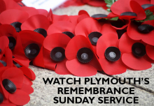 graphic saying watch Plymouth's Remembrance Sunday service