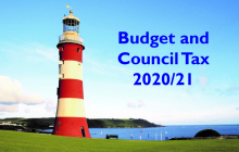 Image of Plymouth Hoe saying Budget and Council Tax 2020/21