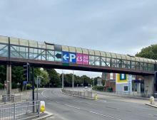 image of the pedestrian footbridge over Western Approach