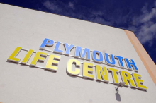picture of sign saying Plymouth Life Centre