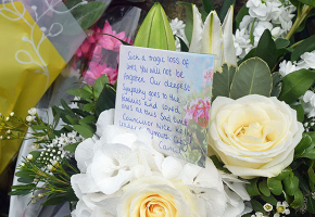 Flowers left in Keyham