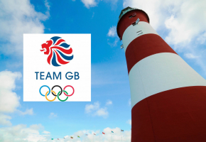 image showing Smeatons Tower and GB Olympic team logo