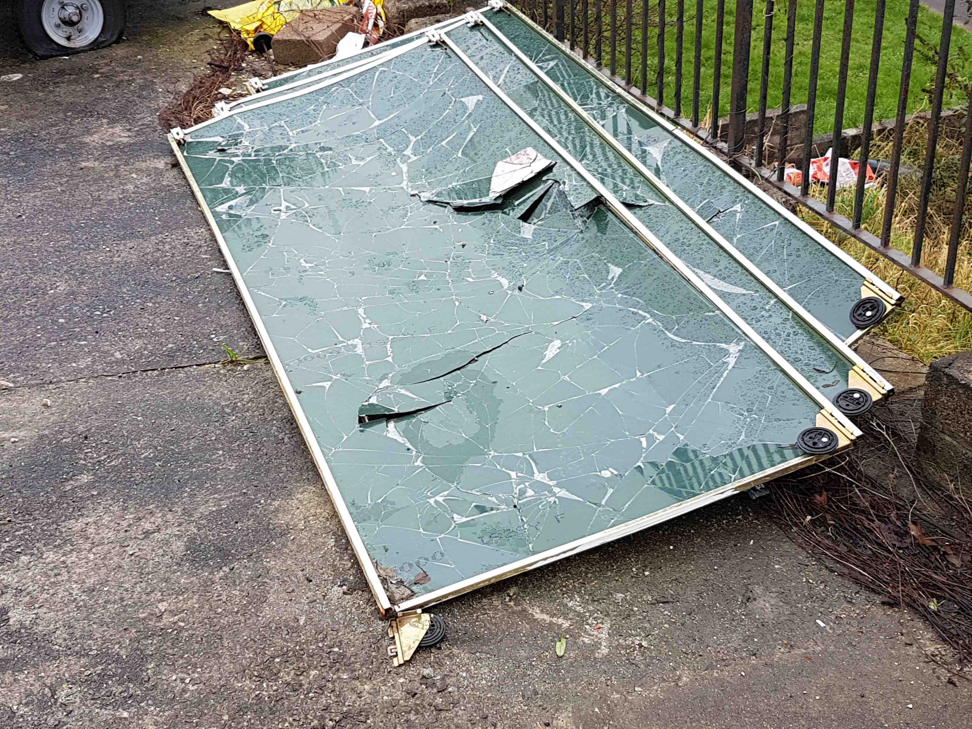 Image of fly tipped glass