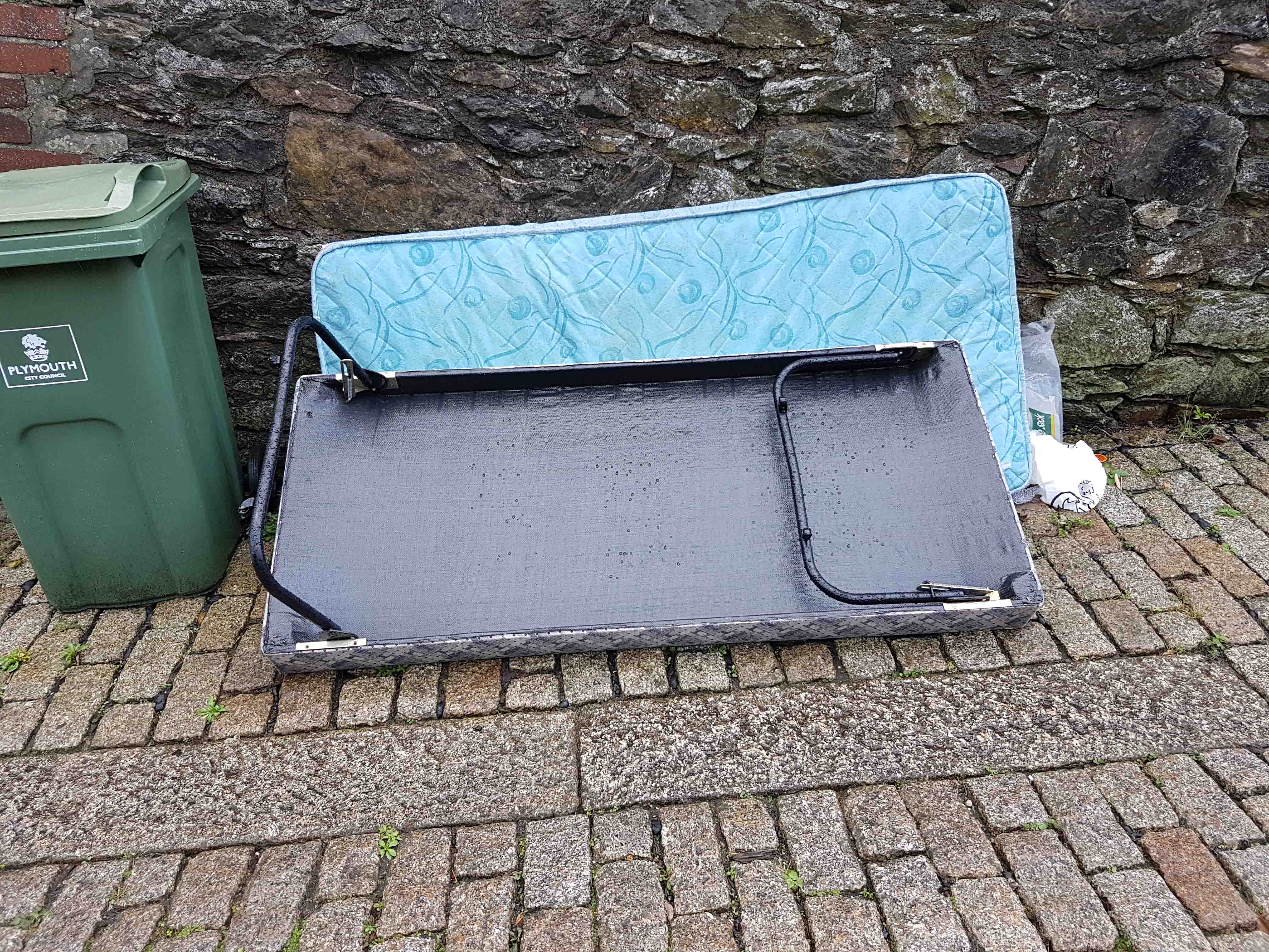 Image of fly tipped bed